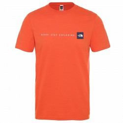 Tricou THE NORTH FACE M S/S Never Stop Exploring Tee orange