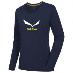 Tricou SALEWA Solidlogo 2 CO W L/S Tee night black